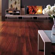 两室一厅日式简约风格客厅深色地板装修效果图