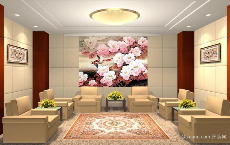 会议室光滑背景墙装修效果图