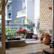 大户型老年公寓园林阳台装修设计效果图