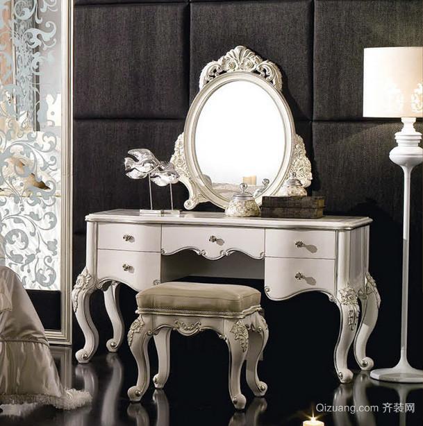 典雅尊贵大卧室欧式梳妆台装修效果图片