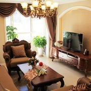 简约风格两房一厅户型装修效果图