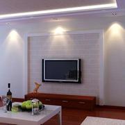 两室一厅中式现代化客厅电视背景墙装饰