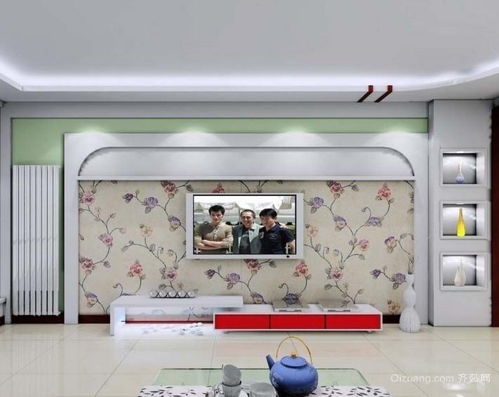 欧式别墅型客厅电视背景墙装修效果图