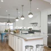 简欧风格开放式大厨房装修效果图