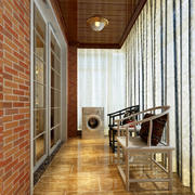 150平米家居简约阳台装修设计效果图