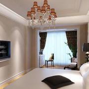 简欧风格20平米明亮卧室装修效果图