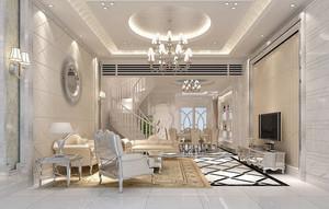 简欧风格复式楼大客厅装修效果图