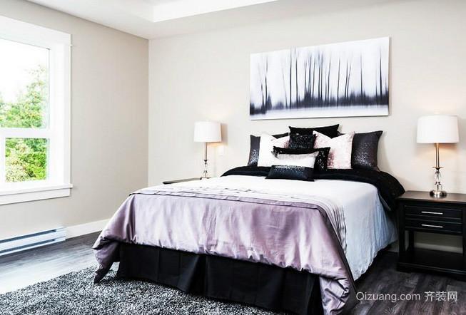 大户型现代黑白装饰画效果图片