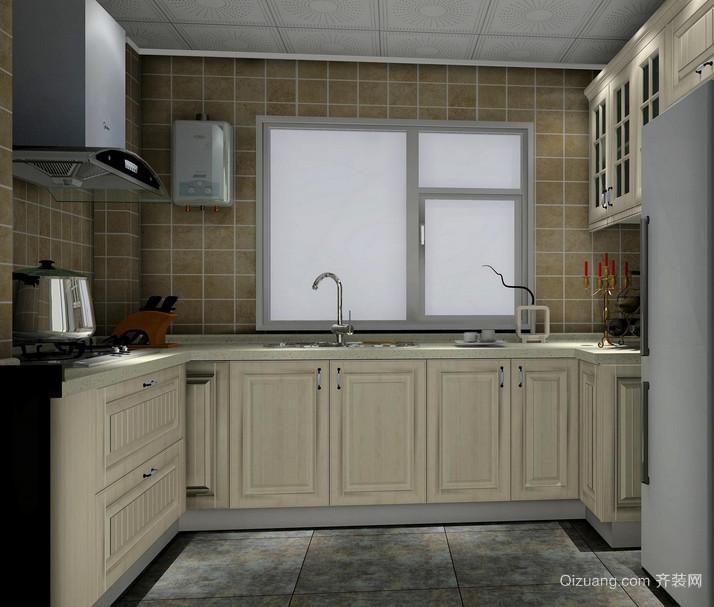 欧式别墅型厨房装修效果图实例欣赏