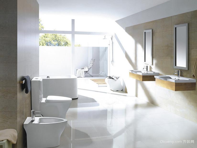 十五平米女士小户型地中海浴室装修图