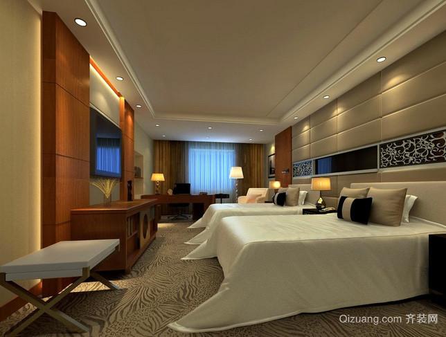 现代简约风格酒店式公寓双人间装修效果图