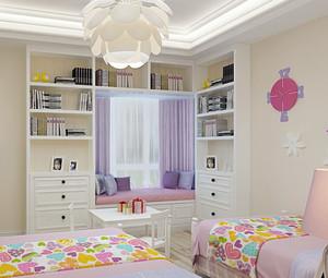 30平米欧式田园风格儿童房装修效果图
