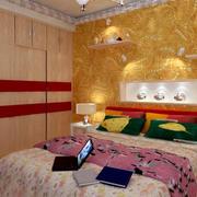 复式楼简约东南亚风格卧室装修效果图