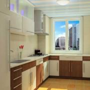 现代大户型欧式开放式厨房装修效果图
