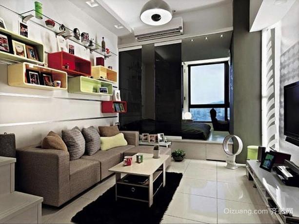 现代简约风格小户型单身公寓装修效果图