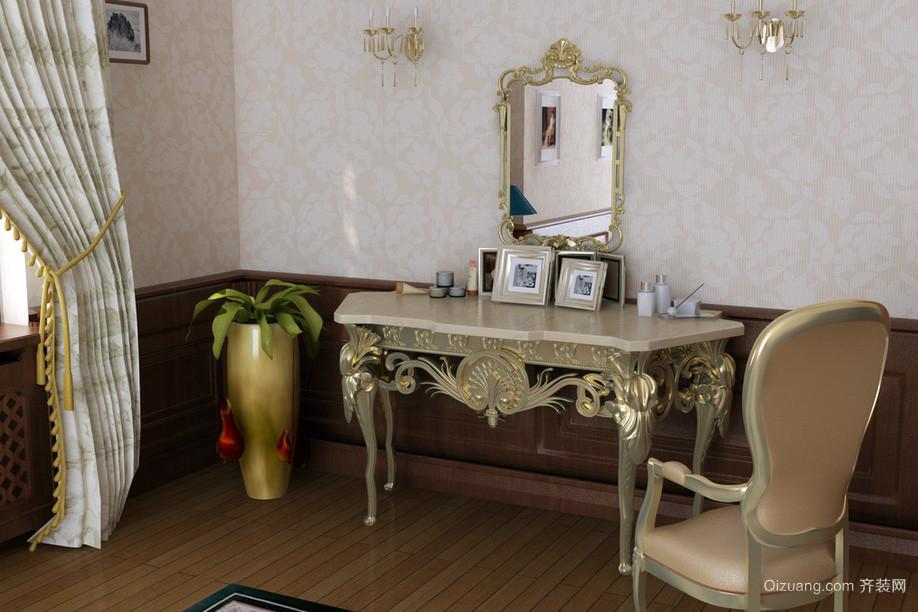复古大户型卧室欧式梳妆台装修效果图片