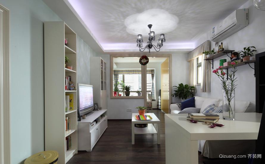 唯美系列两房一厅户型装修效果图