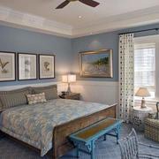 美式简约风格卧室样板房装饰