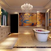 现代大户型欧式浴室装修效果图鉴赏