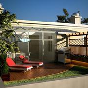 现代简约风格清新阳光房装饰