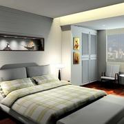 30平米后现代风格灰色系卧室装修效果图
