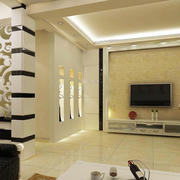 别墅精心设计影视墙装修效果图大全