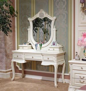 别墅公主房卧室欧式梳妆台装修效果图片