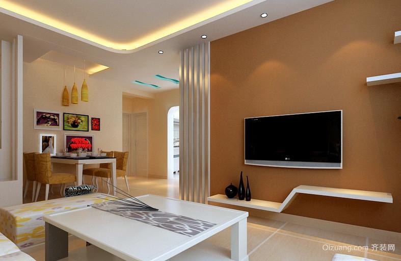 三居室创意影视墙装修效果图大全