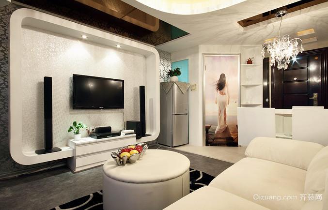 后现代风格两房一厅户型装修效果图