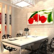 现代小户型欧式餐厅背景墙装修效果图
