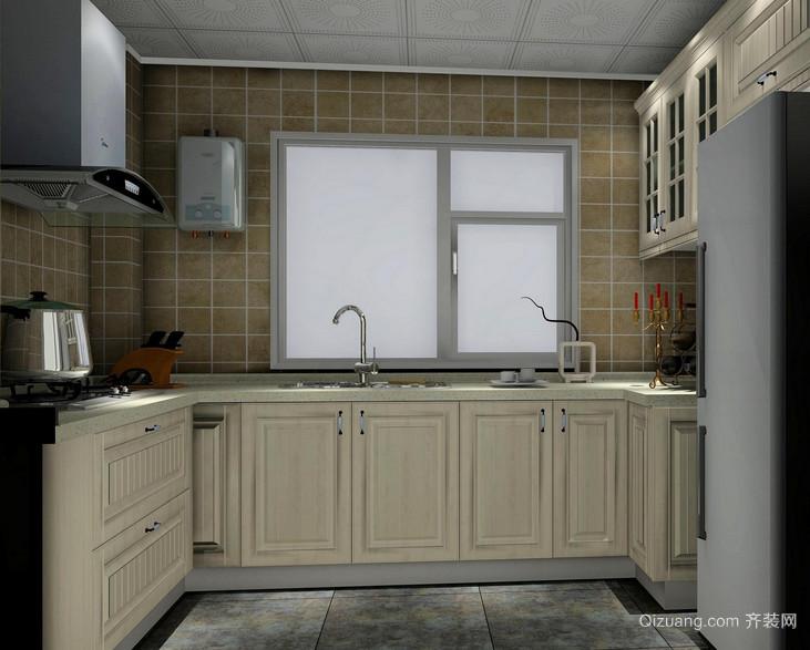 唯美的别墅型欧式厨房装修效果图鉴赏