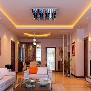 温馨色调中式客厅图片