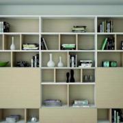 精致的现代小户型书房书柜装修效果图