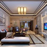 别墅简洁客厅装修效果图
