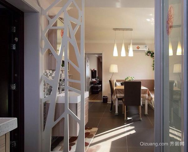 两室一厅后现代风格客厅玄关隔断装修效果图