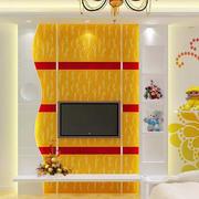复式楼宜家风格客厅电视背景墙效果图