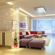 现代化时尚家装客厅玄关隔断装修效果图