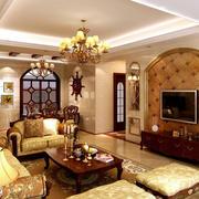 欧式客厅茶几装修图片