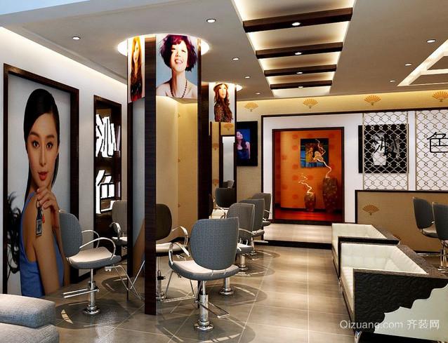 50平米小型时尚现代化发廊装修效果图