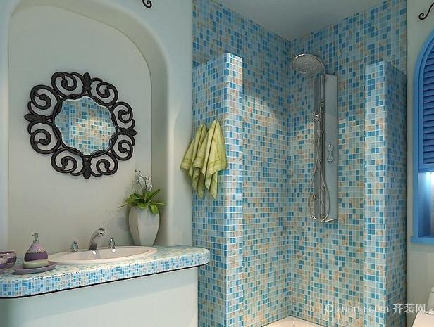 两室一厅地中海简约风格卫生间装修效果图