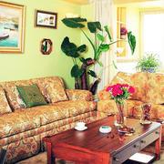 美式混搭风格客厅沙发装饰