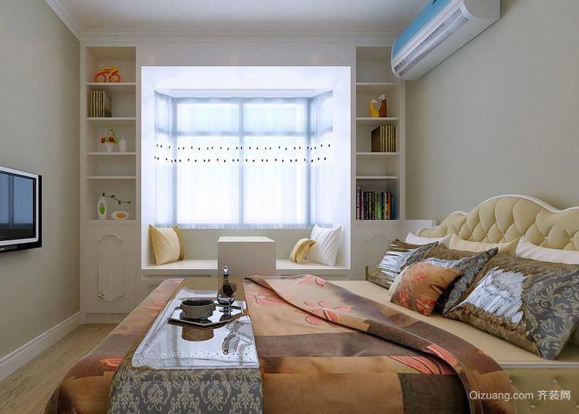 都市三居室人家卧室榻榻米装修效果图