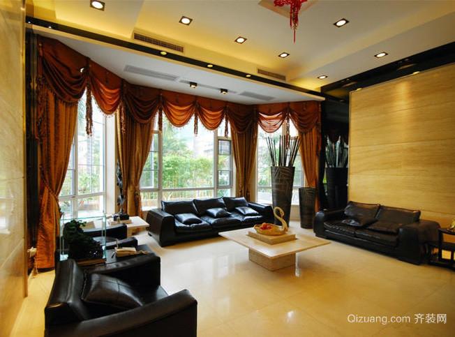 120平米美式简约风格客厅装修效果图