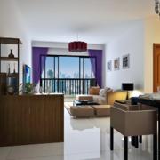 别墅型欧式客厅装修效果图实例欣赏