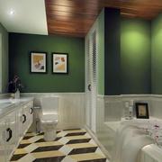 田园风格清新大户型卫生间装修效果图