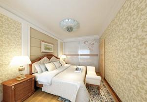 温馨大户型卧室壁纸装修效果图片大全
