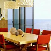 100平米房屋简约餐厅装饰