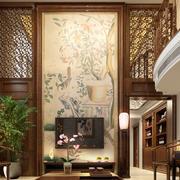 中式简约风格复式楼客厅装饰