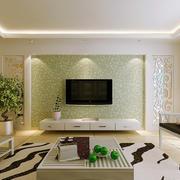 复式楼简约风格客厅电视背景墙效果图