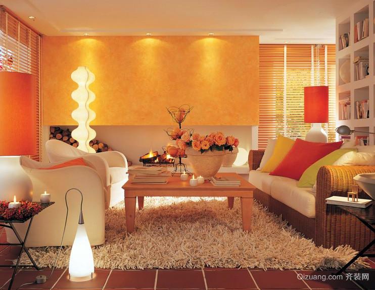 跃层豪华型风格客厅装修效果图